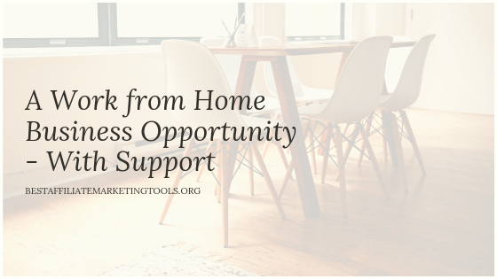 A Work from Home Business Opportunity - With Support