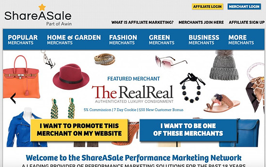 Shareasale Homepage