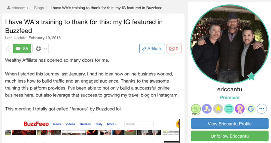 eric-success with wealthy affiliate