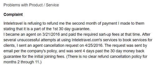 inteletravel-complaint