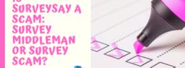 Is SurveySay a Scam_ Survey Middleman or Survey Scam_