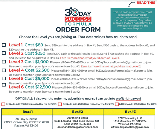 order-form-30-day-success-formula