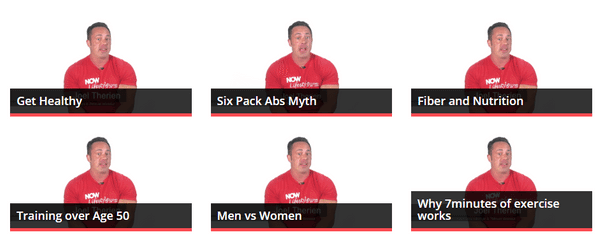 some of the training videos with Now Lifestyle