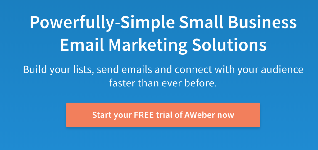 Aweber email marketing review - homepage