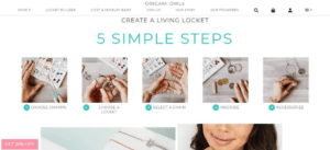 origami owl home page