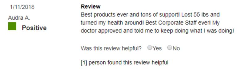 Xyngular Positive reviews 2