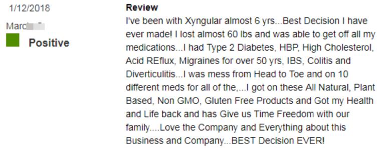 Xyngular Positive Reviews 1