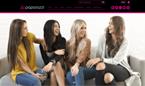 A screenshot of the Paparazzi Accessories home page