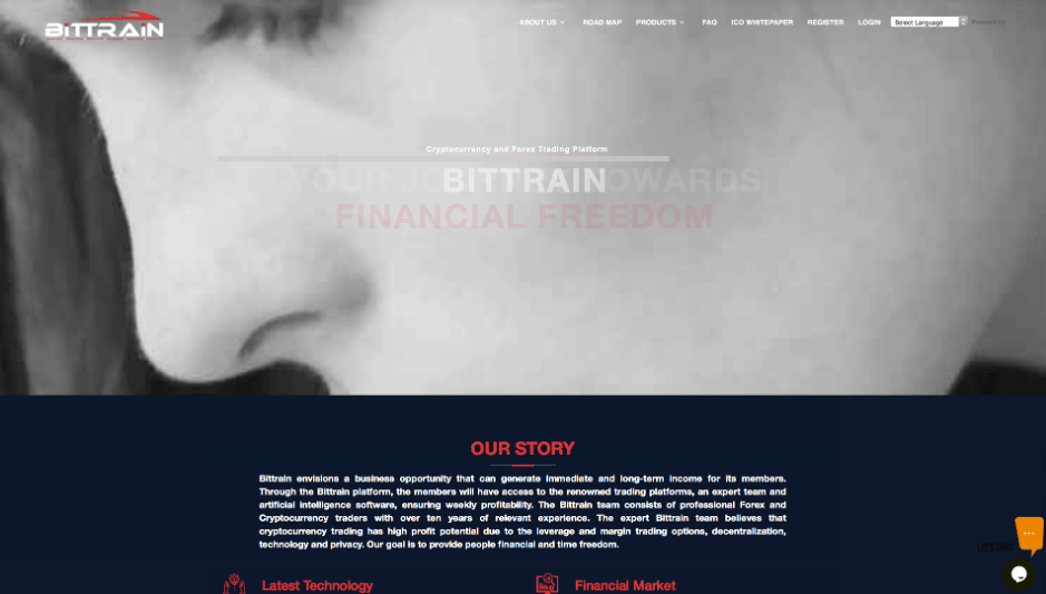 bittrain-website