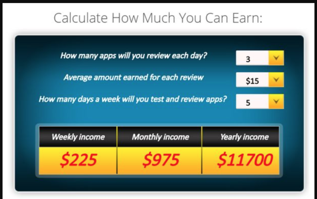 Is AppCoiner a scam - earnings calculator