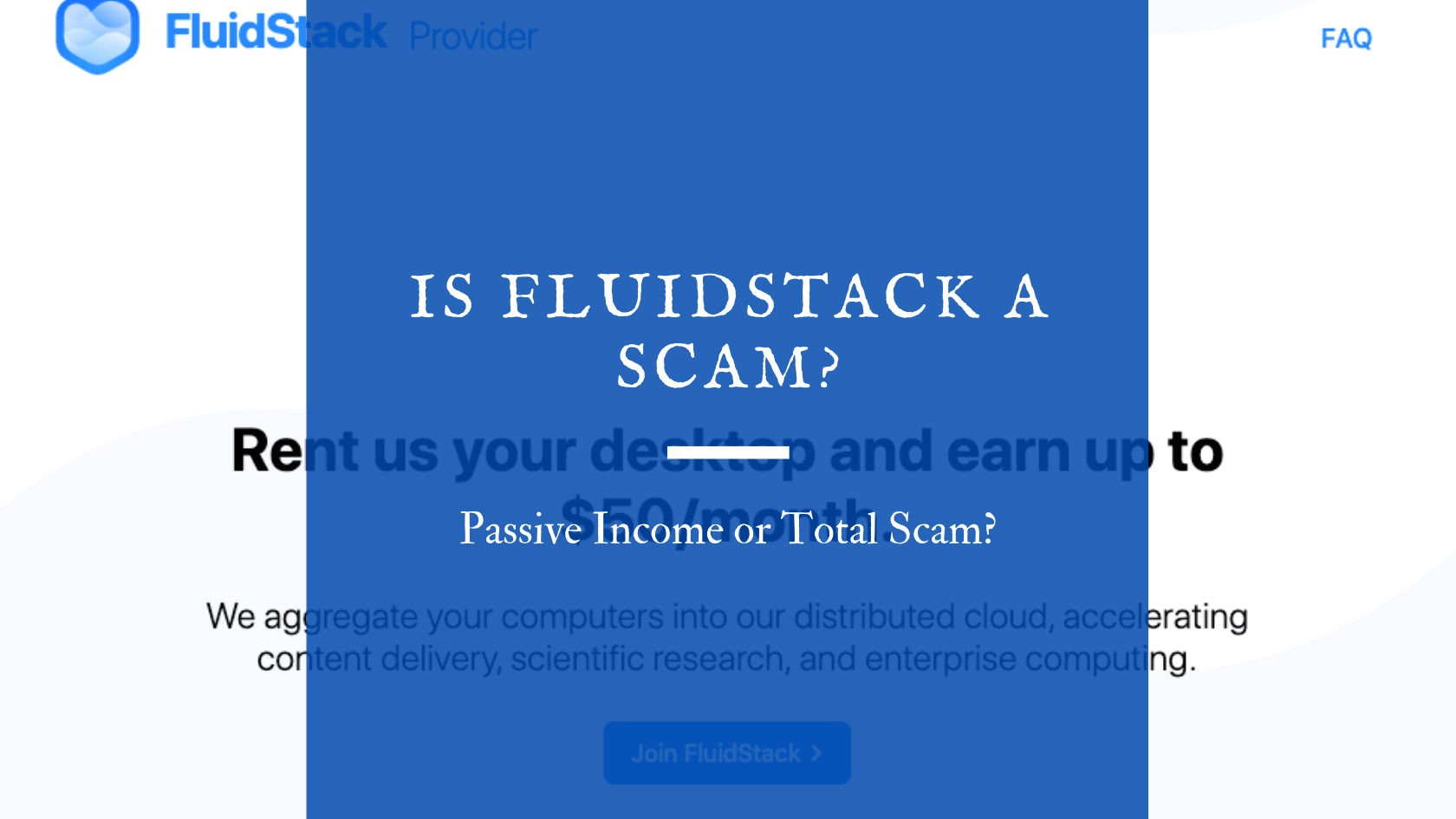 Is FluidStack a Scam