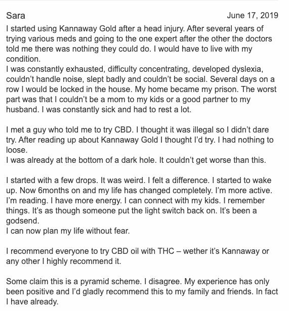 Kannaway positive feedback