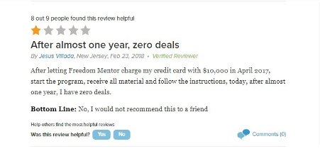 freedom mentor - negative review