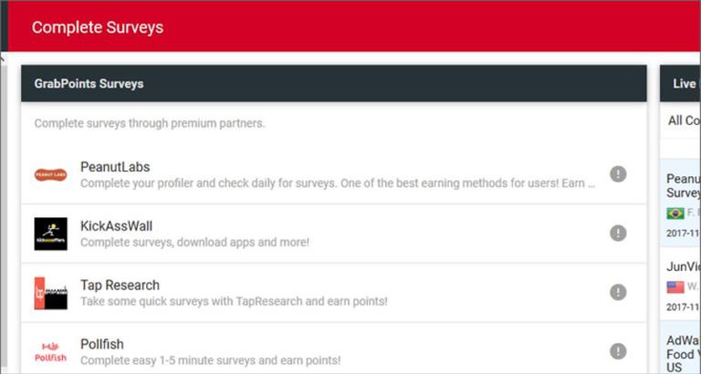 is grabpoints legit - online surveys