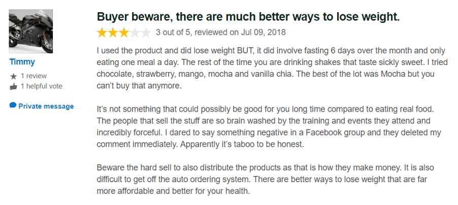 is isagenix a scam - level comment