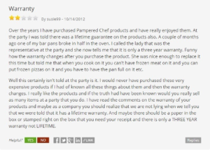 is-pampered-chef-a-scam-warranty-complaint
