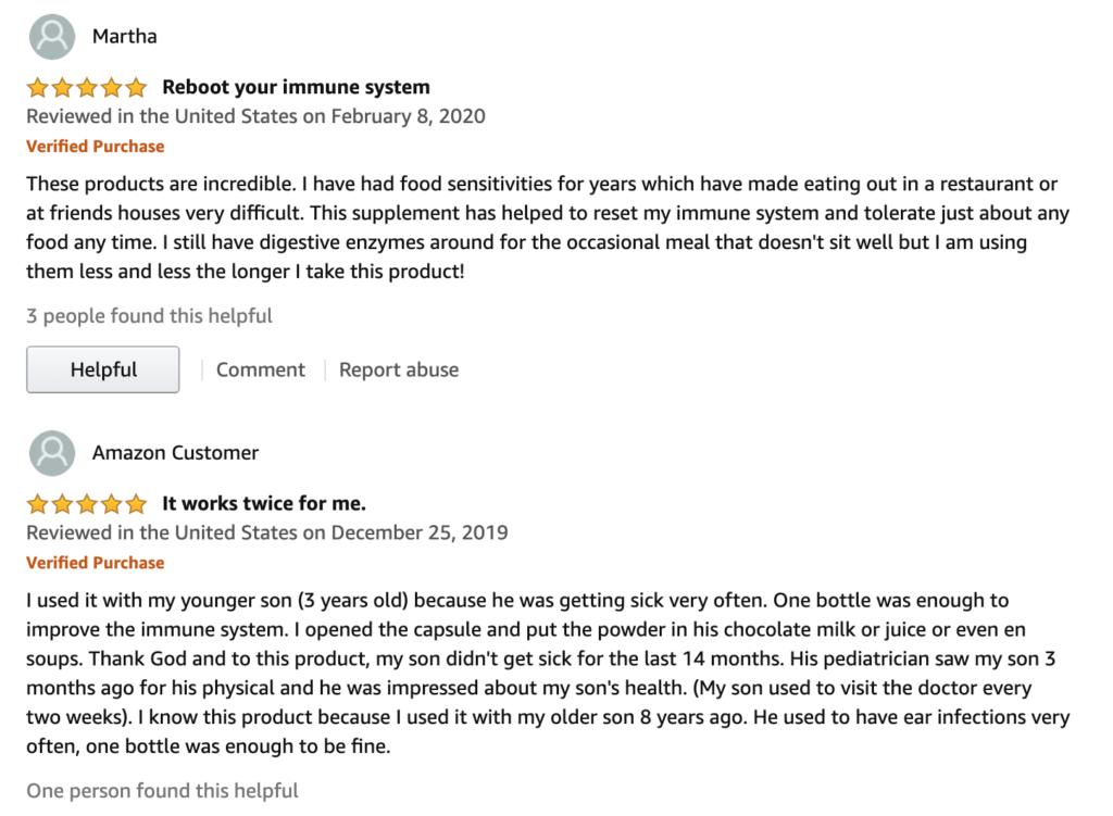 4Life Amazon Reviews - Positive Reviews