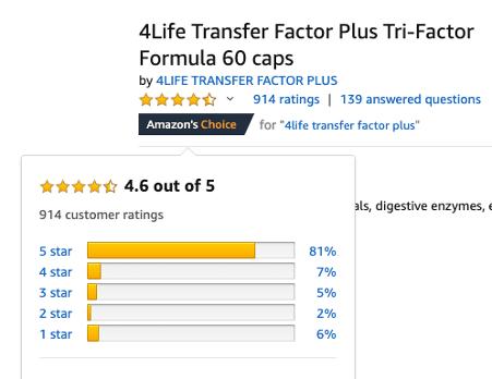 4Life Transfer Factor Plus Reviews