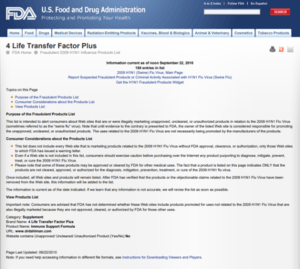 Is 4Life a scam - FDA Warning
