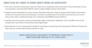 Is USANA a scam - disclaimer