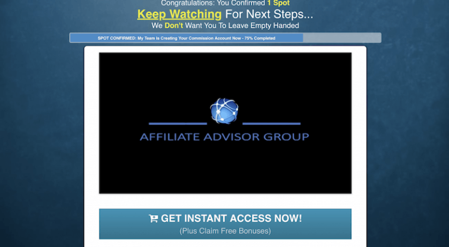 Affiliate Advisor Group website
