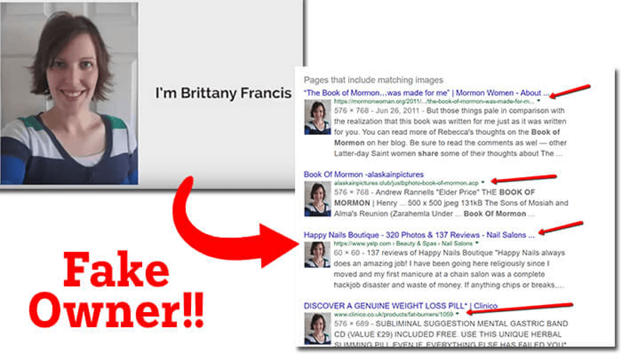 Brittany Francis is Fake Owner