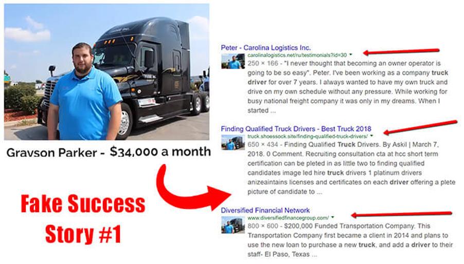 Fake Success Story #1