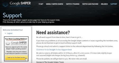 Google Sniper Support