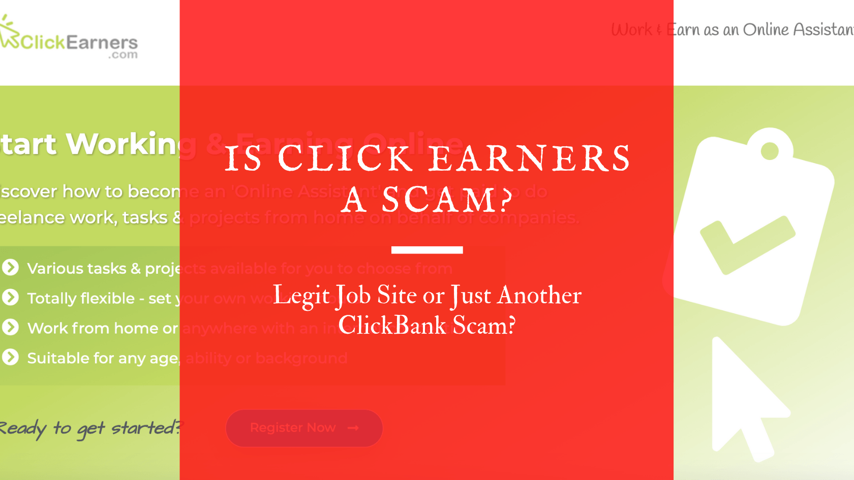 Is Click Earners A Scam