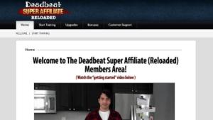 Is Deadbeat Super Affiliate a scam - website image