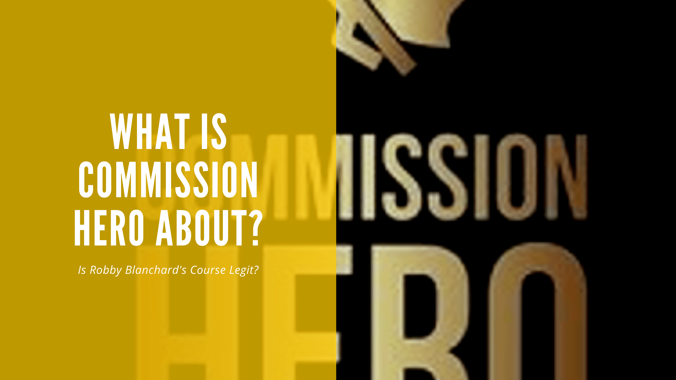 What is Commission Hero About_