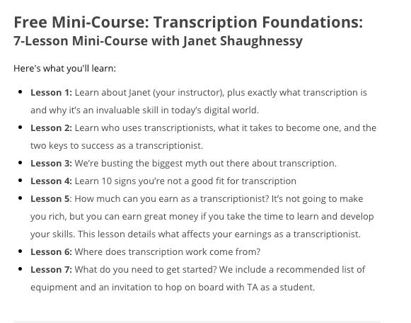 Transcribe Anywhere Mini-Course