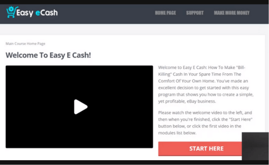 Easy eCash members area