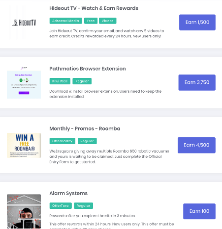 Is Idle-Empire Legit - Paid Offers Examples