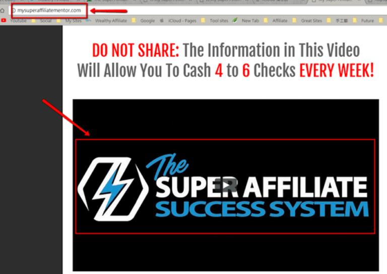 The URL of the sales page is MySuperAffiliateMentor.com!