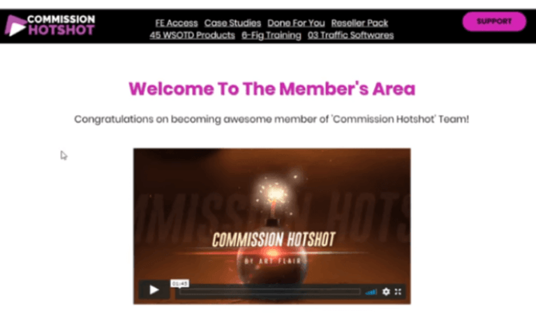 Commission Hotshot Review - Members Area