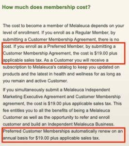 Is Melaleuca a scam - membership costs