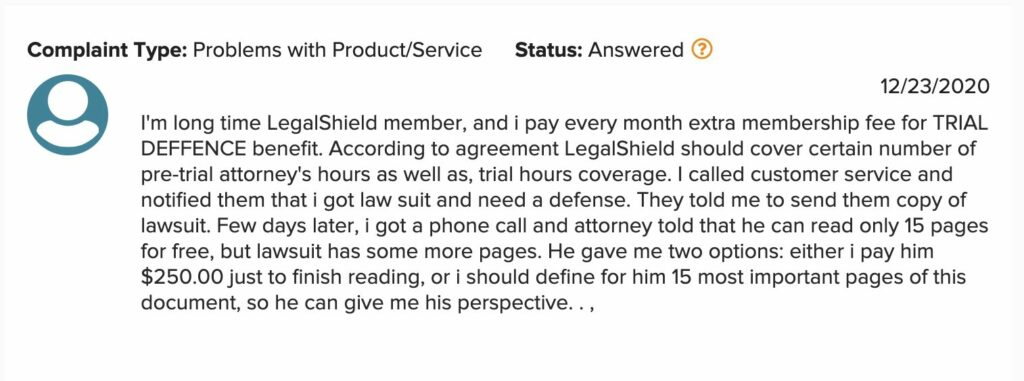 LegalShield - Not Full Coverage