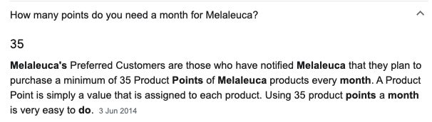 Melaleuca Review - Monthly Points
