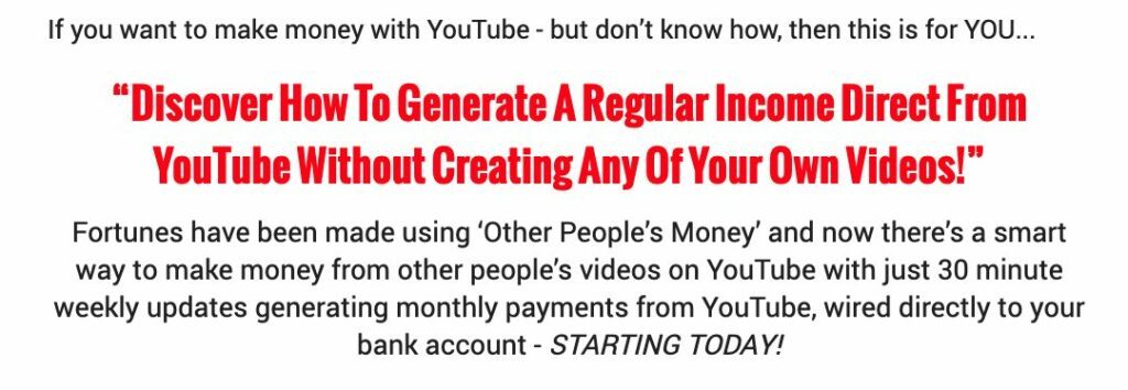 Youtube Secrets Review - Claims