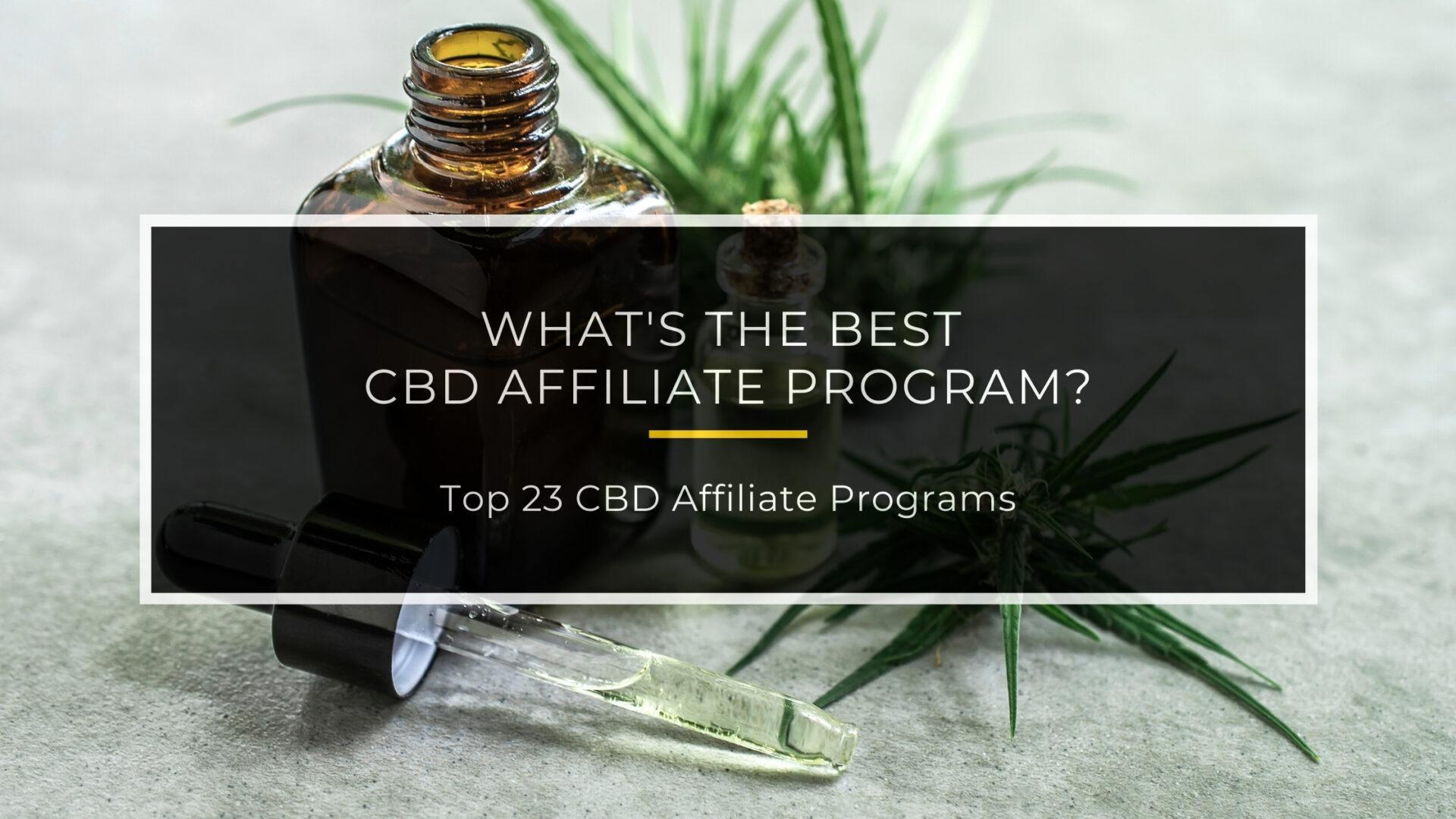 Best CBD Affiliate Programs