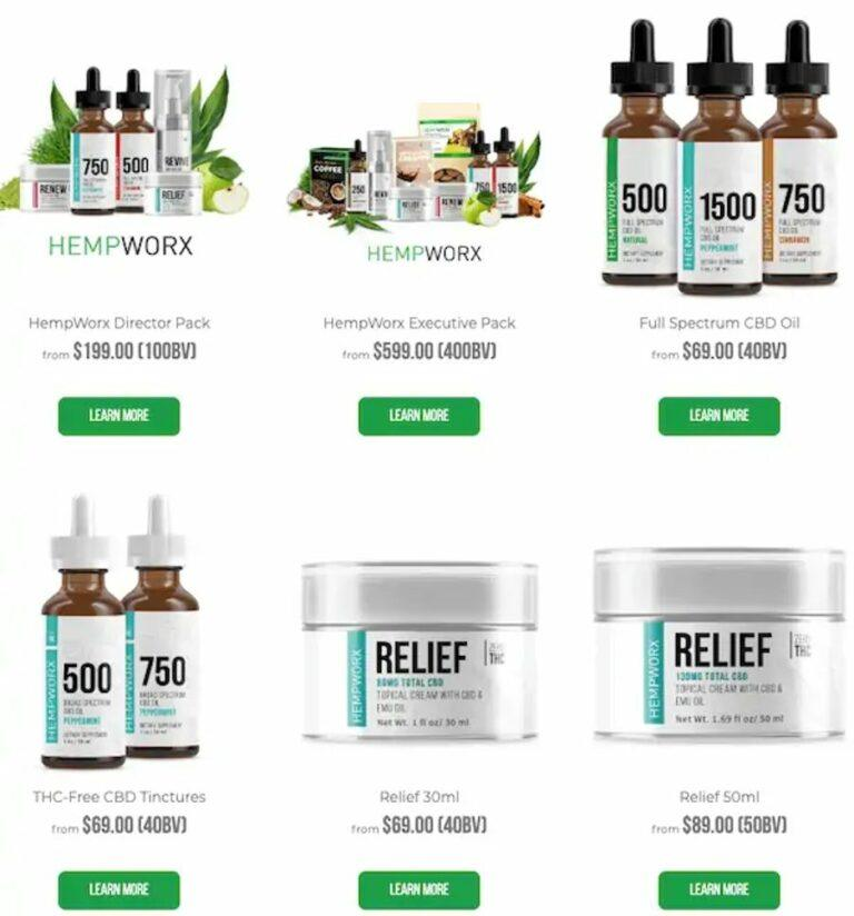 Is Hempworx a scam - product line