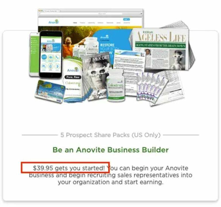 is anovite a scam - startup costs