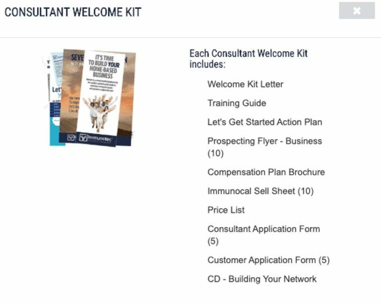 immunotec-consultant-welcome-kit