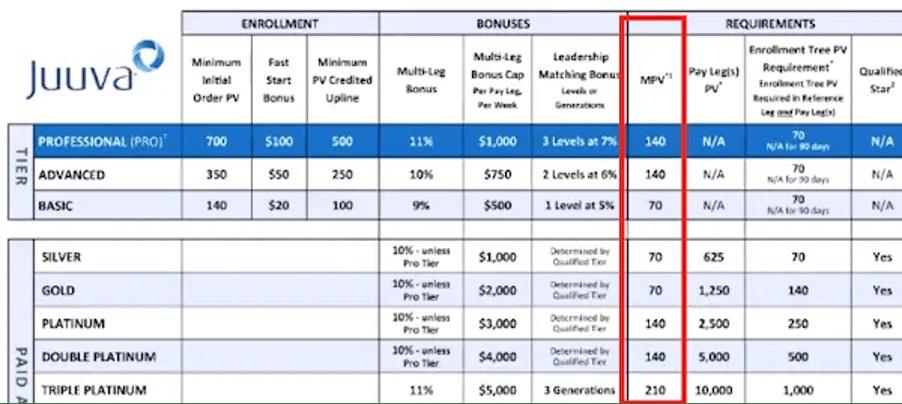 is-juuva-a-pyramid-scheme-monthly-costs