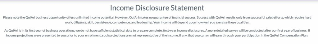 quiari-mlm-review-no-income-disclosure