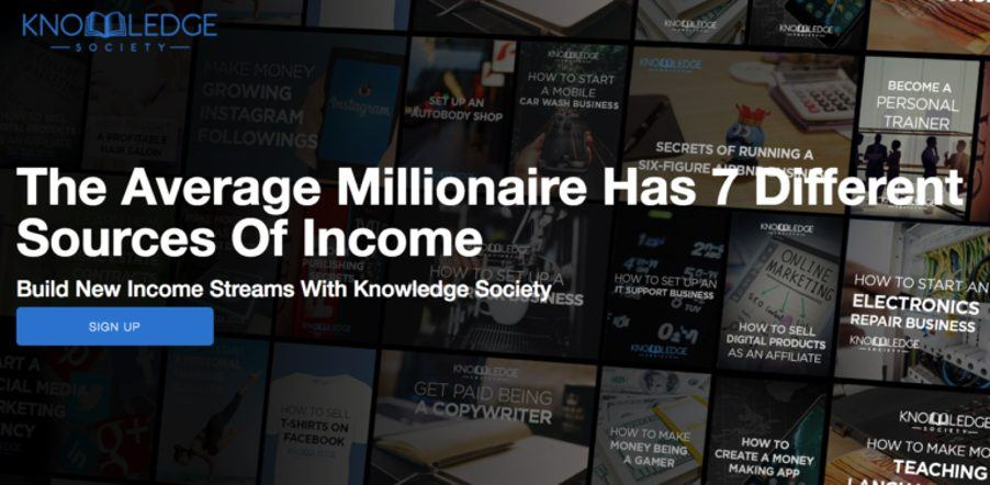 Knowledge-Society-Landing-Page